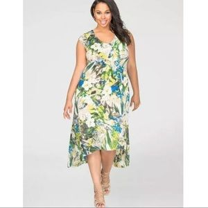 Ashley Stewart | Tropical Floral Hi-Lo Maxi Dress